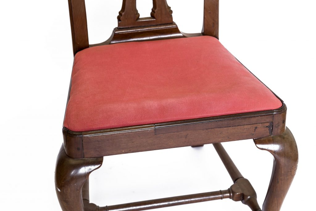 Early period chair showing damage detail