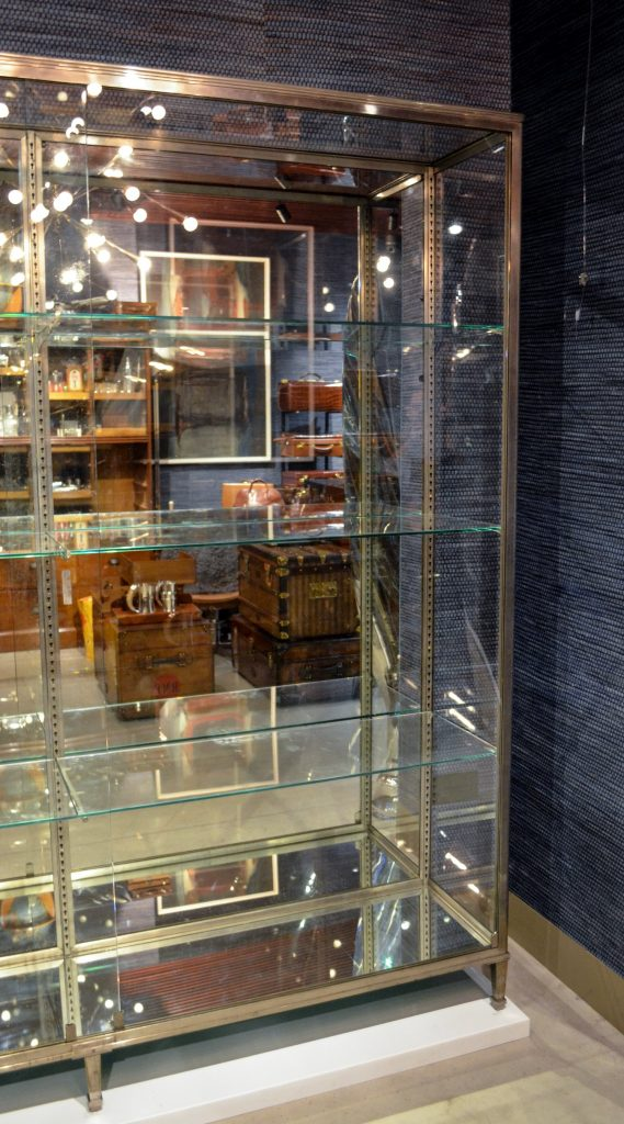 Display cabinet assembled in Bentley's of London