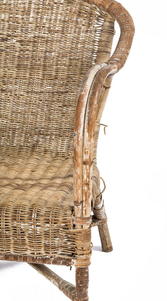 Vintage cane chair detail