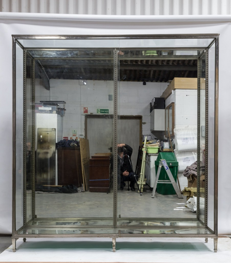 Display cabinet assembled in workshop