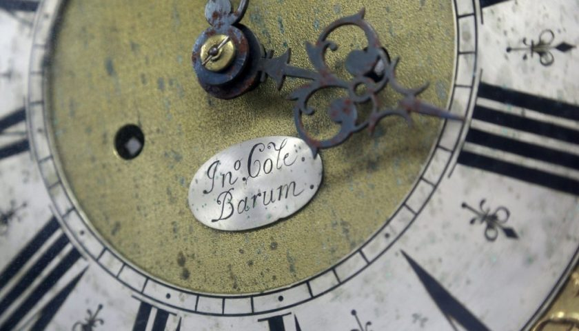 Detail on clock dial