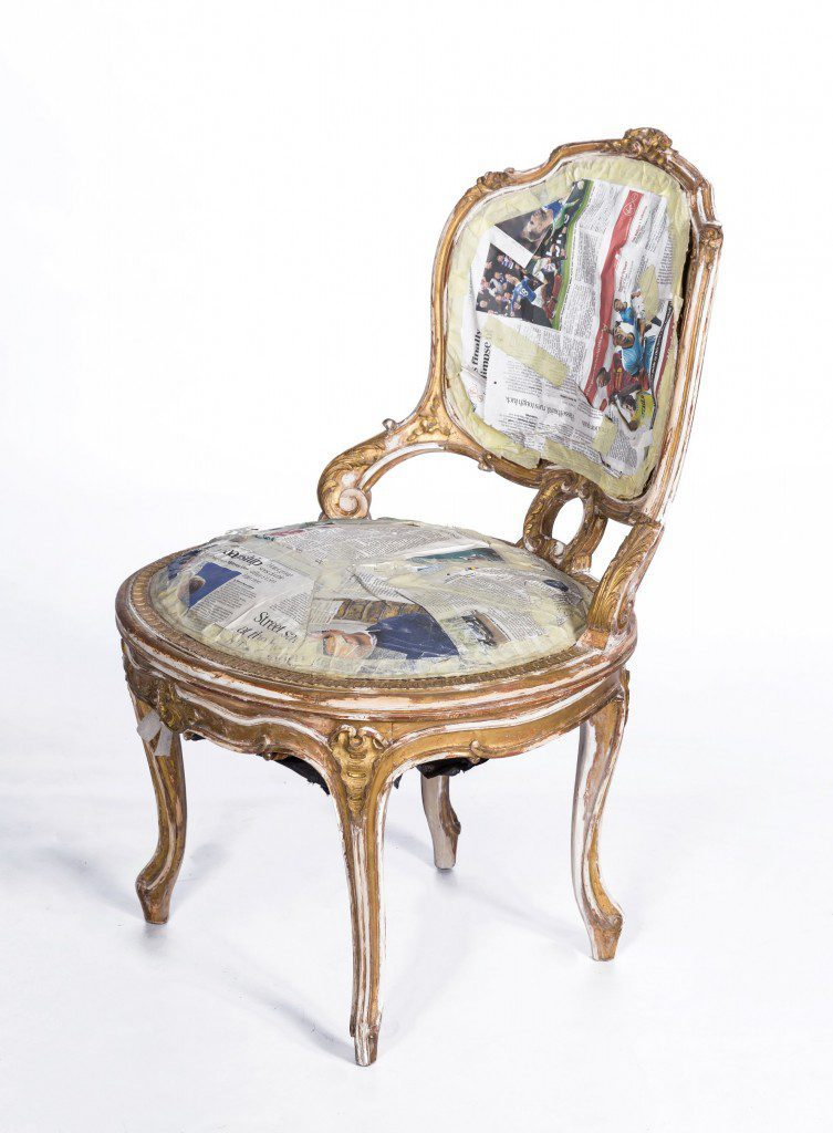 Water gilded chair
