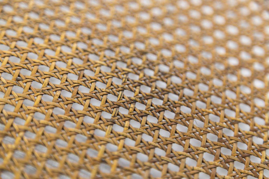 Split cane woven panel