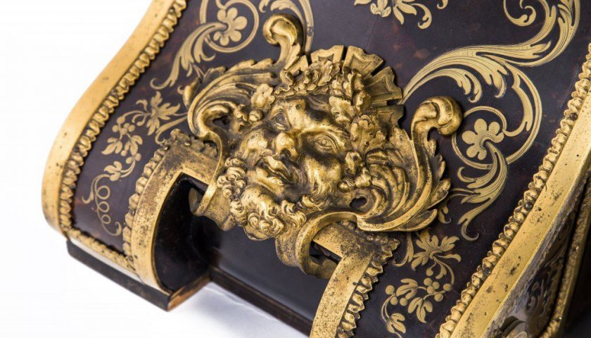 Example showing how ormolu complements brass and tortoise shell work
