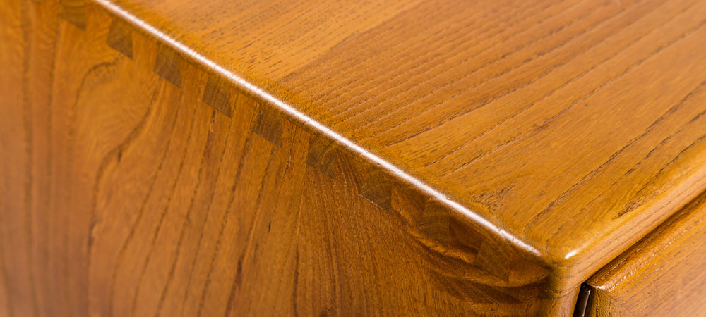 Ercol sideboard corner detail