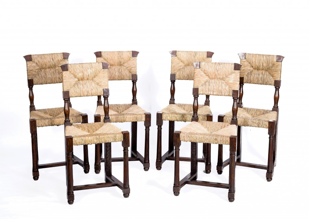 Set of six Arts and Crafts chairs
