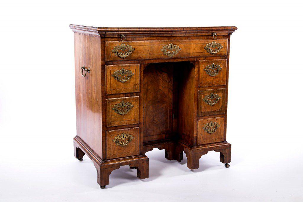 Walnut knee-hole desk