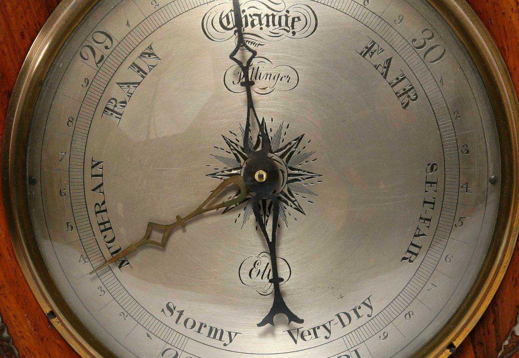 Silvered dial for banjo barometer
